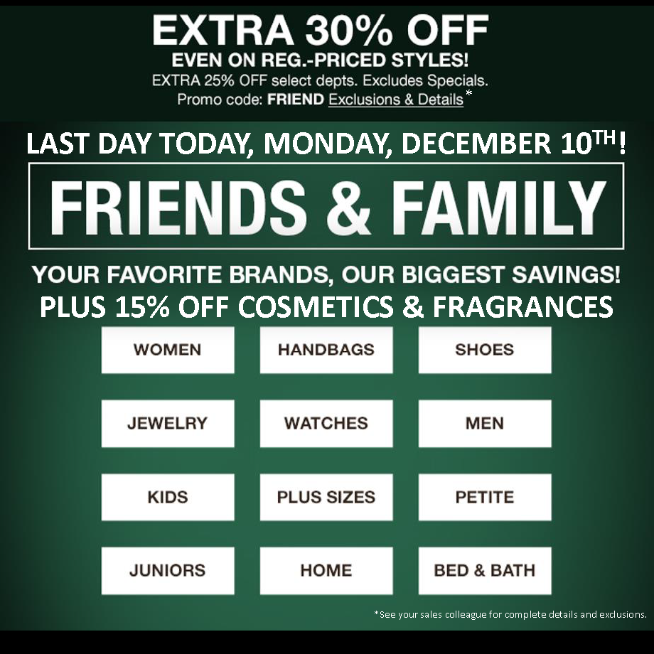 41c616b13 Macy's Friends and Family Sale! FINAL DAY! - Burbank Chamber of Commerce