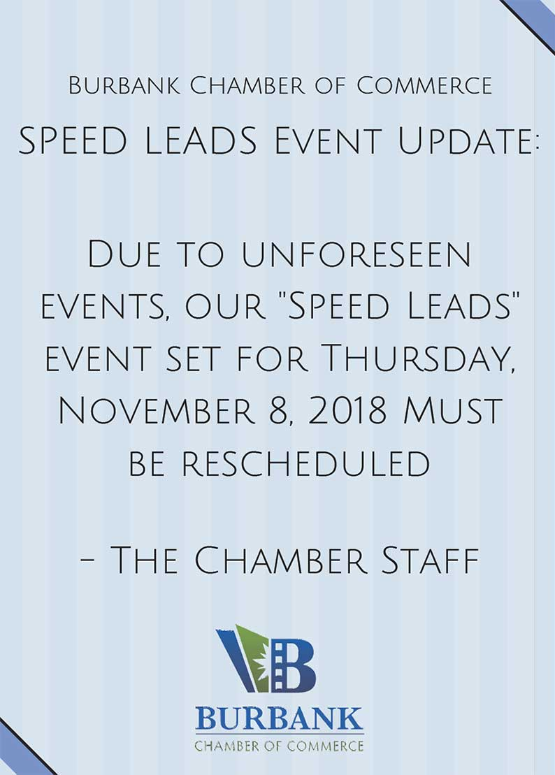 Event Cancelled - Burbank Chamber of Commerce